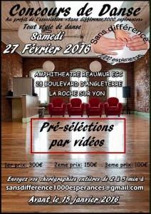 flyer concours de danse 2016
